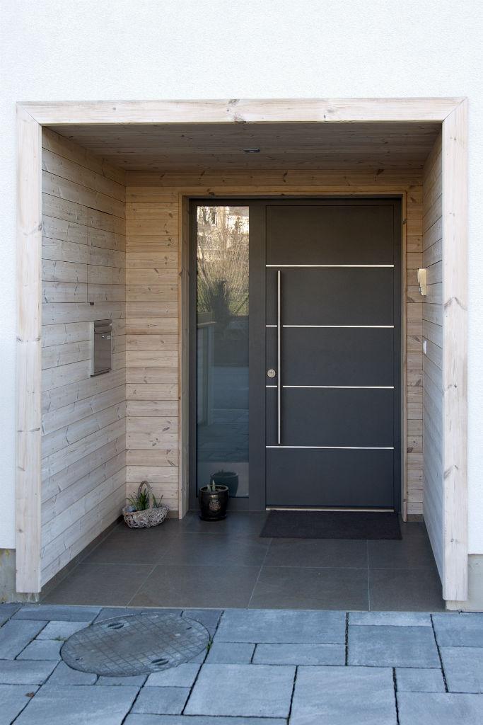 Makrowin vchodové dvere drevo-hliník
